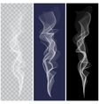 Set of realistic white smoke vector image