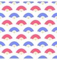 Red Blue Fan Seamless Pattern vector image