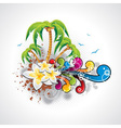 summer holiday design with palm trees vector image vector image