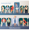 people in airplane horizontal banners vector image