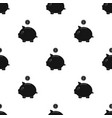 donation piggybank icon in black style isolated on vector image