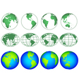 Globes icon collection vector image vector image