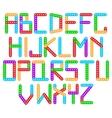 designer alphabet vector image vector image