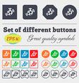 mirror ball disco icon sign Big set of colorful vector image
