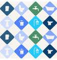 Seamless background with bathroom icons vector image