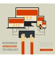 Trendy responsive webdesign technology page design vector image