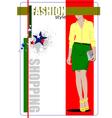 al 0412 shopping 02 vector image