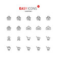 easy icons 32a shopping vector image