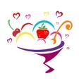 Icon ice cream vector image