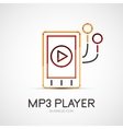 Mp3 player company logo business concept vector image