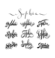 Personal name tattoo Sophia vector image