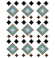 Red green brown rural geometric ornament vector image
