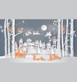 winter season and merry christmas vector image