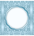light blue card with light pattern and white cente vector image