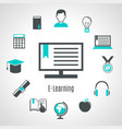 minimalist style elearning composition vector image vector image