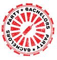 bachelors party stamp vector image