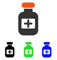 drugs bottle flat icon vector image