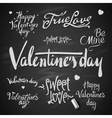 Set Of Happy Valentines Day Hand Lettering vector image