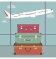 Travel Luggage in the Airport vector image
