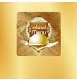 golden Cover Design restaurant menu vector image