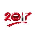 2017 year woman vector image