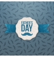 Fathers Day greeting Emblem with Ribbon and Text vector image
