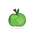 apple organic vector image