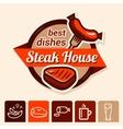 best steak logo vector image