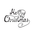 congratulation of merry christmas vector image