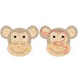 easy monkey maze vector image