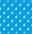 florida map pattern seamless blue vector image