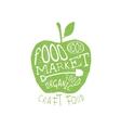 Food Market Vintage Emblem vector image
