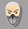 superhero in action superhero character icon in vector image