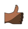 thumb up hand like vector image