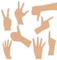 Hand Signs and Signals vector image vector image