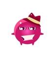 Womanizer Round Character Emoji vector image