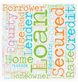 Secured Homeowner Loans Secures an opportunity to vector image