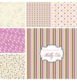 Shabby Chic patterns set vector image vector image