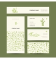 Business cards design massage and spa concept vector image