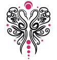 Snakes butterfly vector image vector image