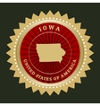 Star label Iowa vector image
