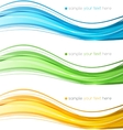 Set of color curve lines design element vector image vector image