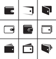 Wallet icons set vector image