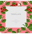 Floral spring template with cherry berries and vector image vector image