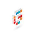 3d cube letter G logo icon design template vector image