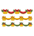 christmas garlands vector image
