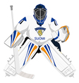 team finland hockey goalie vector image vector image