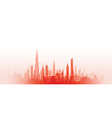 cityscape with fade red vector image