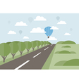 Road into the distance vector image vector image