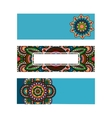 Horizontal banner mandala ornament template vector image